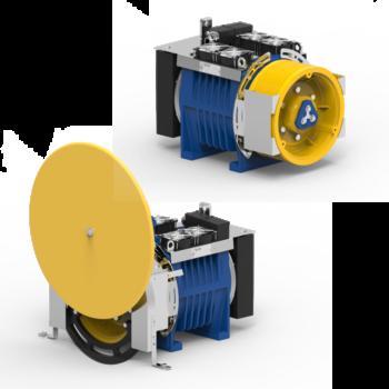 Immagine del MRL e MR gearless MGV34S.